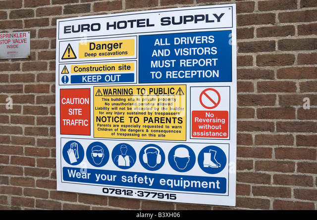 Health and safety sign stock photos health and safety for Construction rules and regulations