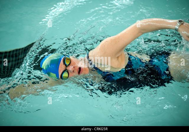 Bathing Cap Woman Stock Photos Bathing Cap Woman Stock Images Alamy