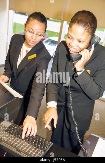 Little Rock Arkansas The Peabody Hotel Lobby Black Woman Women Young Work Job Business