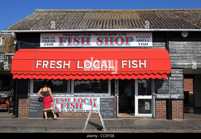 The harbour folkestone stock photos the harbour for Fresh fish shop near me
