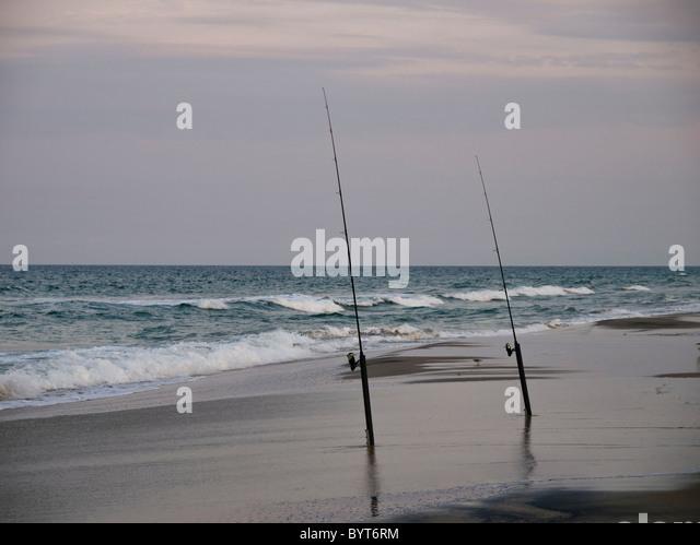 North carolina fishing stock photos north carolina for Surf fishing nc