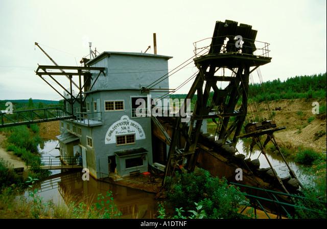 Historic Gold Dredges : Alaska fairbanks historic gold dredge stock photos