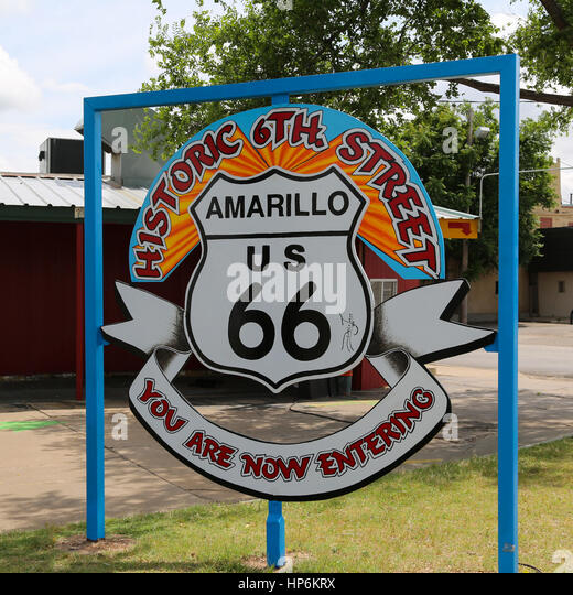 6th street historic district stock photos 6th street for Tattoo shops amarillo tx