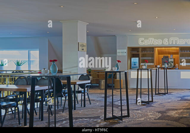 A Interior Of Modern Coffee Bar In Restaurant And Hotel