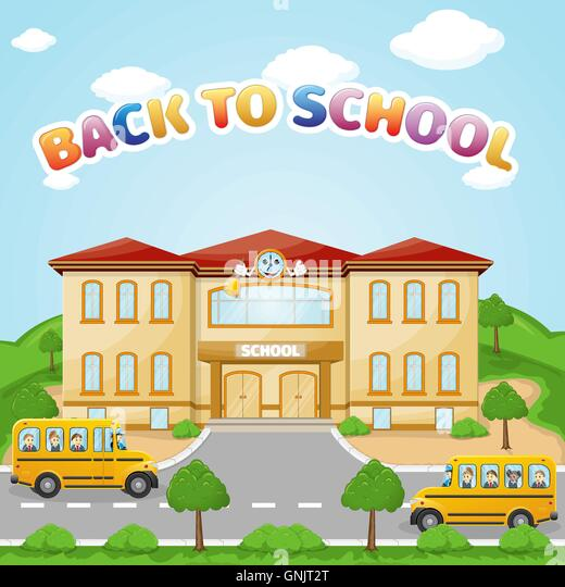 Elementary School Building Bus Stock Photos & Elementary ...