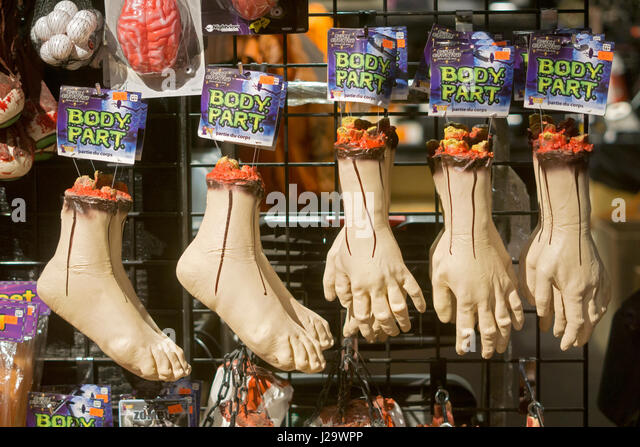 hand and foot body parts for sale at the halloween adventure in greenwich village manhattan - Halloween Adventure New York