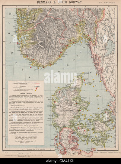 London Map Th Century Stock Photos London Map Th Century - Norway lighthouses map