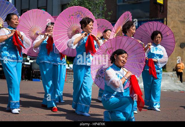 Chinese Umbrella Dance Stock Photos & Chinese Umbrella ...