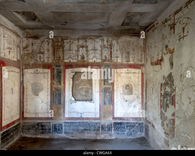 House of octavius quartio stock photos house of octavius for Ancient roman mural