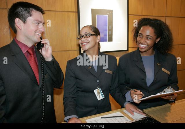 Front Desk Reservationist Stock Photos Front Desk Reservationist