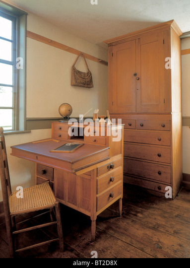 Shakersu0027 Furniture At The Fruitlands Museum, Harvard.   Stock Image