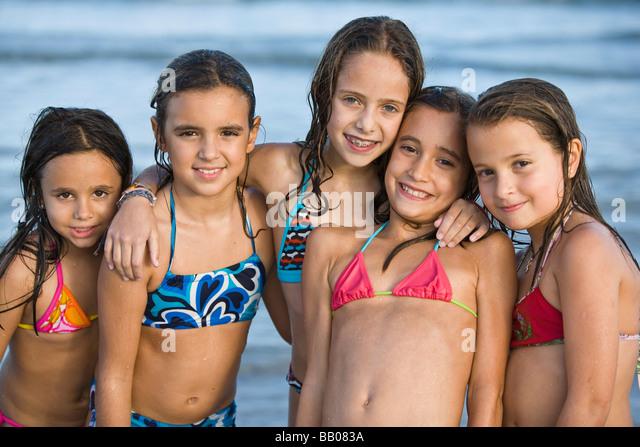 Very young wet teens