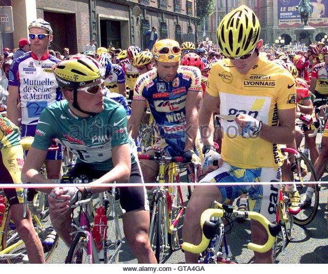 Resultado de imagen de jan ullrich boardman stage 1 tour de france 97 green jersey