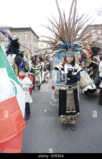 At the festival of the virgin of guadalupe