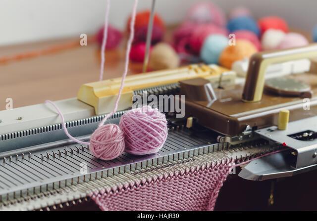Hand Knitting Machine : Knitting machines stock photos