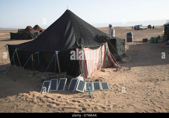 Solar panels outside nomad tent Sahara desert Zagora Morocco - Stock Image & Desert Nomad Tent Zagora Morocco Stock Photos u0026 Desert Nomad Tent ...