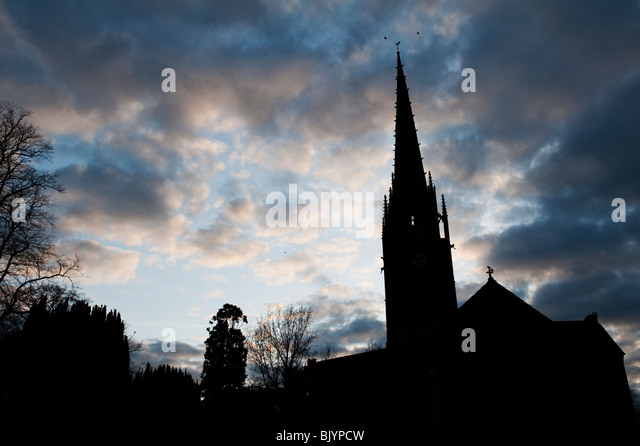 Church Spire Silhouette Stock Photos Amp Church Spire