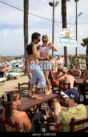 ibiza beach party women stock photos ibiza beach party women stock images alamy. Black Bedroom Furniture Sets. Home Design Ideas