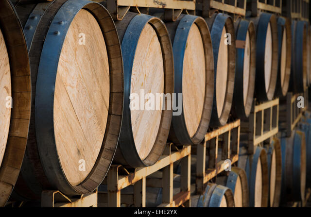 Whisky Barrel Stack Royalty Free Stock Photography - Image: 950257
