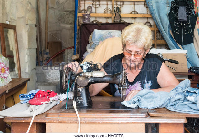 Traditional sewing machine stock photos