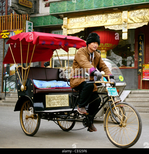 Pedicab China Stock Photos & Pedicab China Stock Images