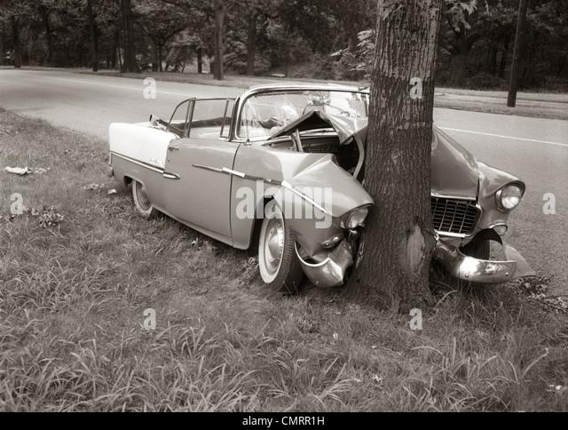 Car Crash Black And White