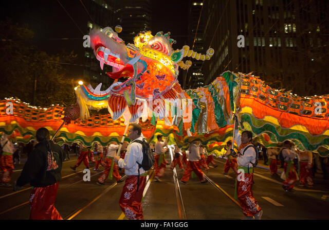 Chinese dragon costume head stock photos chinese dragon for Chinese new years parade