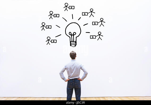 investor concept, fundraising for new business project - Stock Image