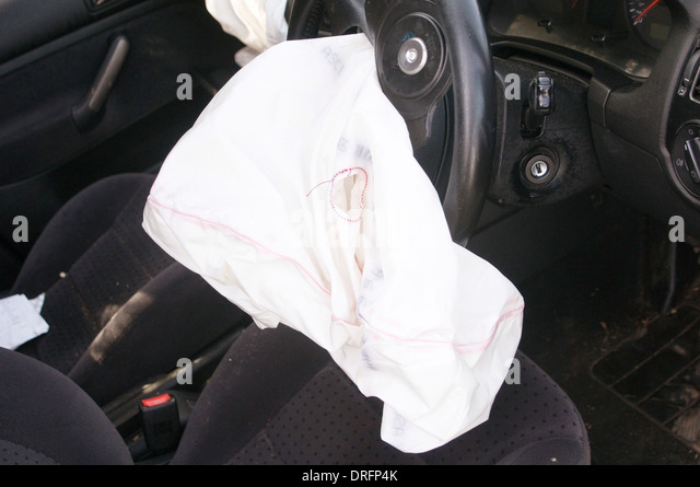 Air Bag Airbag Bags Airbags Drivers Car Cars Crash Deployed Deployment Crashes Steering Wheel Passenger Inflation
