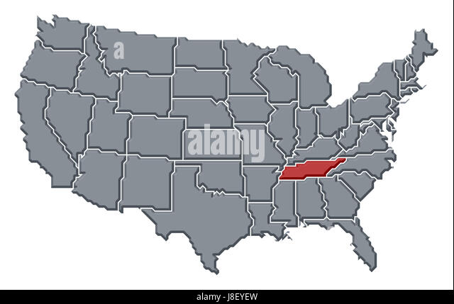 United America Maps Tennessee State Stock Photos United America - Memphison us map