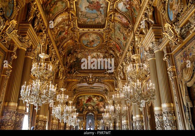 Grand Foyer Opéra Garnier : Grand foyer palais garnier opera stock photos
