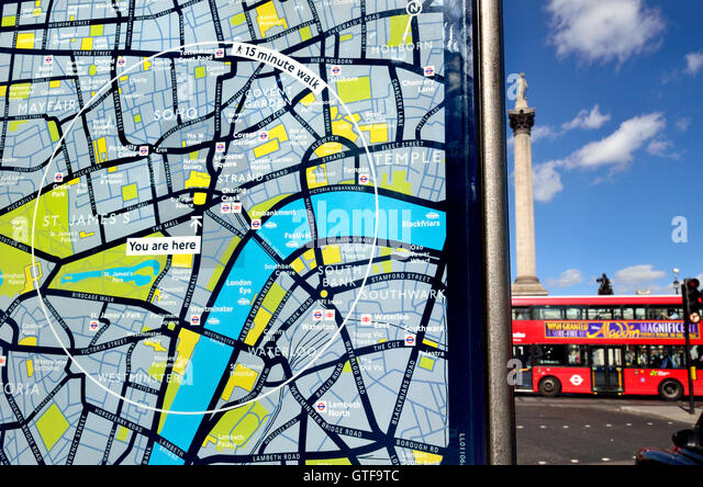 Central London Map Photos and Central London Map Images – Tourist Map of London England