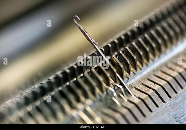 Knitting Needles Nottingham : Knitting machine stock photos