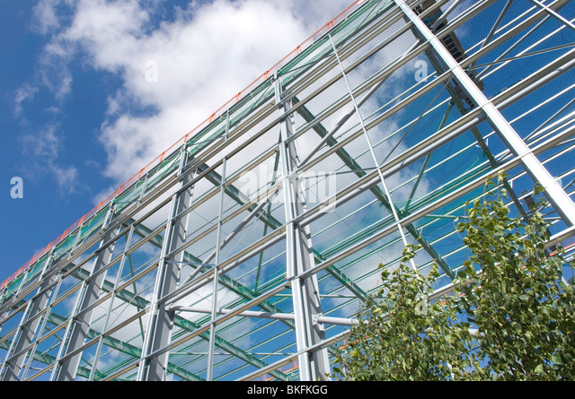 steel frame building site stock image
