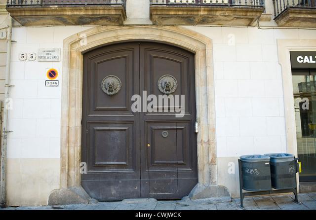 Apartment Building Front Door knockers front door stock photos & knockers front door stock