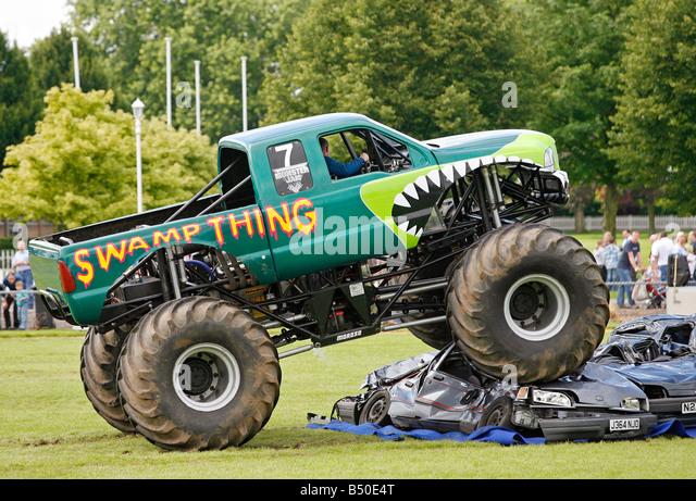 Monster Truck Crushing Cars Stock Photos Monster Truck Crushing
