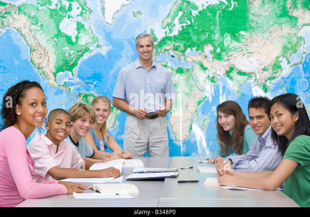 Asian geography classroom