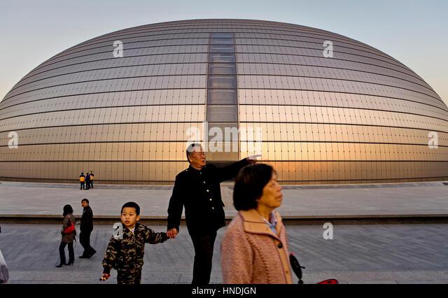 Building child china stock photos building child china for Beijing opera house architect
