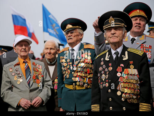russian veterans with multiple military decorations attend - Military Decorations