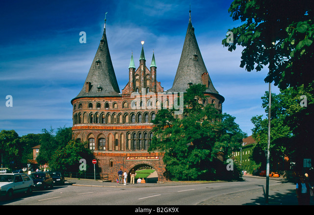 holstentor gate architecture tourist stock photos holstentor gate architecture tourist stock. Black Bedroom Furniture Sets. Home Design Ideas