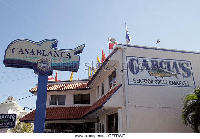 Restaurant in casablanca stock photos restaurant in for Garcia s seafood grille fish market