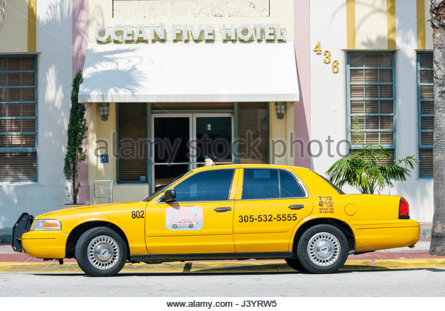 South Beach Yellow Cab Taxi Miami Beach Fl