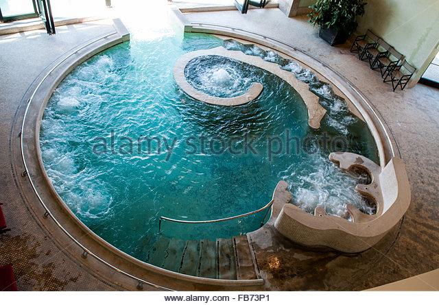 spa poolfonteverde termesan casciano dei bagniitaly stock image