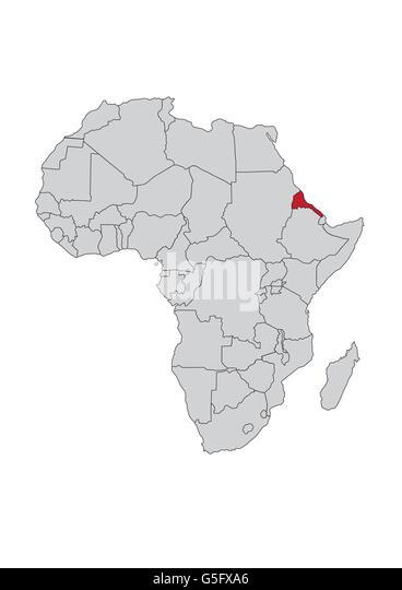Outline map country eritrea stock photos outline map country map of africa eritrea stock image gumiabroncs Gallery