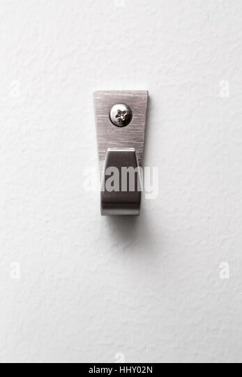 Strong Steel Wall Hanger. - Stock Image
