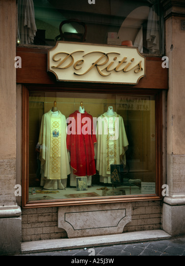 Clerical clothing store