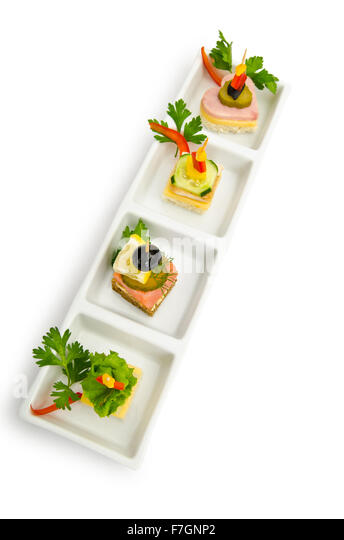 Seafood platter cut out stock photos seafood platter cut for Canape selection