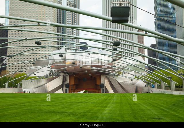 Jay Pritzker Pavilion in Millennium Park   Stock Image. Millennium Park Chicago Concert Stock Photos  amp  Millennium Park
