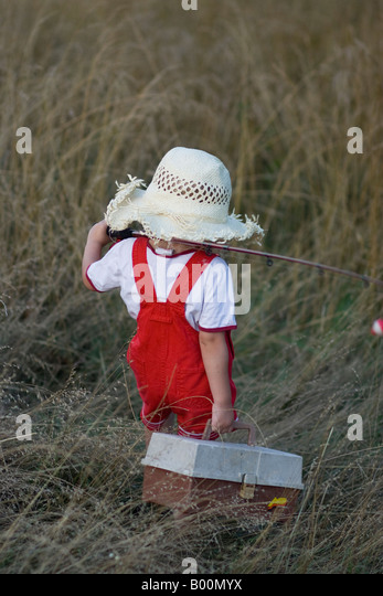 straw hat fishing pole stock photos & straw hat fishing pole stock, Fishing Rod