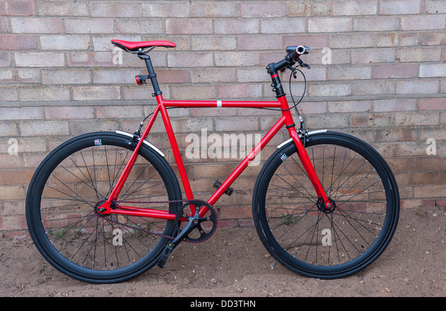 Fixed gear bike stock photos fixed gear bike stock for Motor cycle without gear